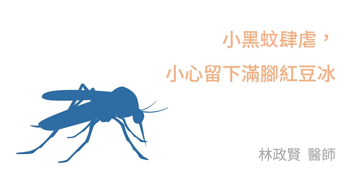 DEET,picaridin,台灣鋏蠓,小黑蚊,紅豆冰,臺灣鋏蠓,蚊蟲叮咬,防蚊液,